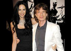 L'Wren Scott and Mick Jagger (Image Credit : www.youtube.com)