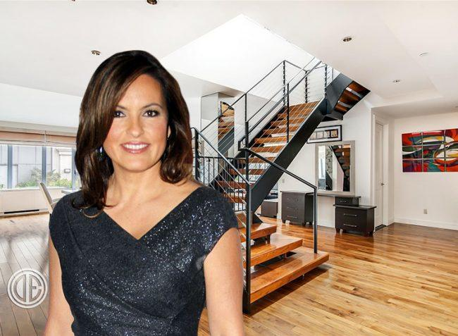 Mariska Hargitay and 655 Sixth Avenue #PHB (image credit: Joella Marano via Wikimedia and Douglas Elliman)