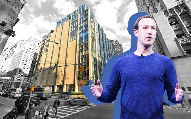 85c28dad43e Mark Zuckerberg and 63 Madison Avenue (Credit: Anthony Quintano via Flickr  and Google Maps)