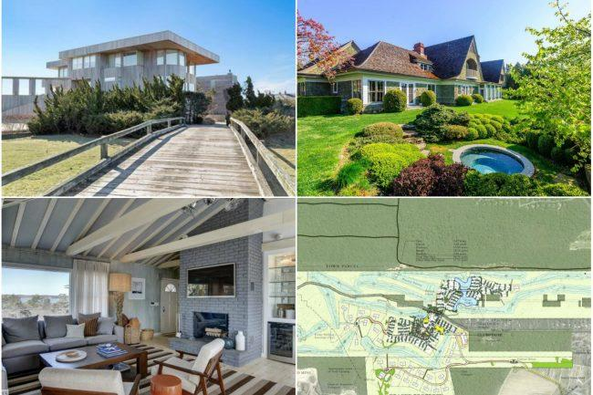 187008f008e87 Clockwise from top left  An oceanfront Southampton home gets a  4M price  cut