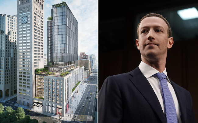 b27a4c39d34 A rendering of One Madison Avenue and Mark Zuckerberg (Credit: KPF and  Getty Images)
