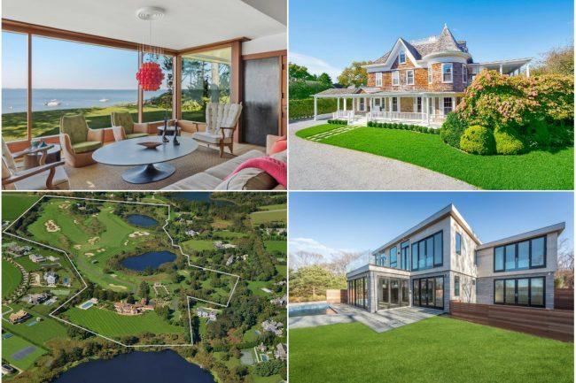a3be2e8f2ca7b Clockwise from top left  A sleek bayfront home in East Hampton lists for   7.65 million  a Southampton village home built in 1895 sells for  10.6  million  ...
