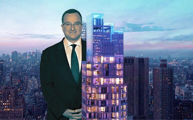 Sharif El-Gamal and 45 Park Place (Credit: Getty Images and 45 Park Place NY)