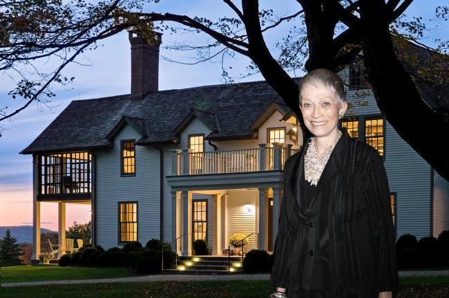 Melva Bucksbaum and her estate in Sharon, Connecticut (Credit: Getty Images and Klemm Real Estate)
