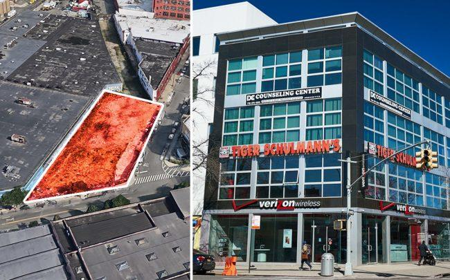 25 Stewart Avenue in Bushwick and 1623 Kings Highway in Midwood (Credit: Google Maps and Boss Equities)