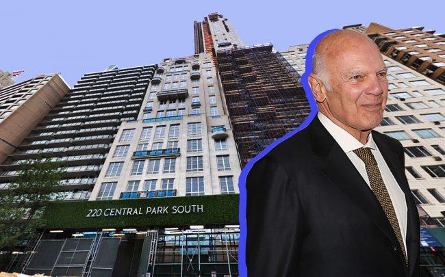 220 Central Park South and Vornado CEO Steve Roth (Credit: Google Maps and Getty Images)