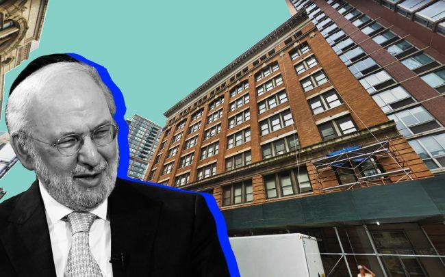 David Bistricer of Clipper Equity and 250 Livingston Street in Brooklyn (Credit: REIT and Google Maps)