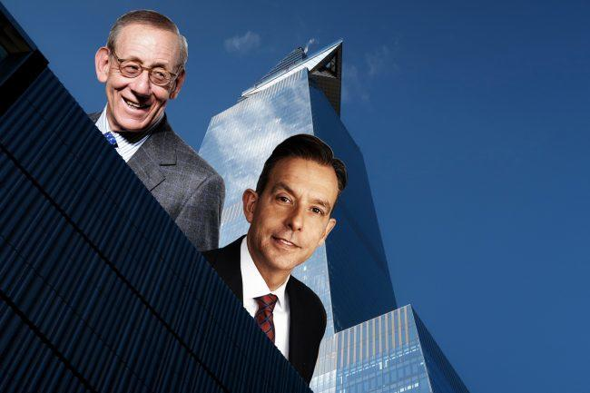 30 Hudson Yards with Related chairman Stephen Ross (left) and Allianz Real Estate of America CEO Christoph Donner (Credit: Getty Images)