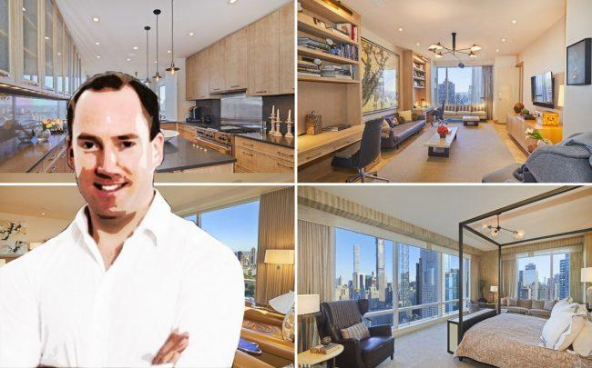 Startive Ventures founder Simon Clausen and his condo at 1 Central Park West (Credit: LinkedIn)