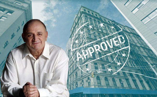 Elad Group chairman Isaac Tshuva and the Tribeca Clock Tower building at 346 Broadway (Credit: Google Maps)