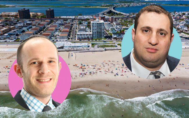 Treetop Development's Adam Mermelstein and JDS Development's Michael Stern with Far Rockaway (Credit: WXY)