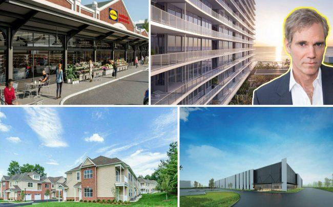 Clockwise from the left: Hampshire and Pinnacle companies finalize deal to redevelop Montclair's Lackawanna Plaza, Jay Sugarman's iStar eyes $6M condos in Asbury Park, Kislak Realty to market luxury rentals in Essex County and Colony Capital adds to its industrial assets in Mahwah.