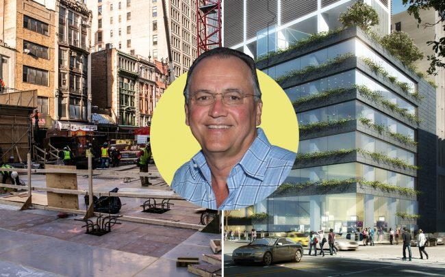 The development site and renderings of Ritz-Carlton Hotel at 1185 Broadway with Flag Luxury Group CEO Paul Kanavos (Credit: Getty Images)