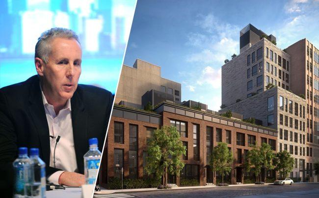 Property Markets Group founder Kevin Maloney and 111 Leroy Street (Credit: Getty Images)