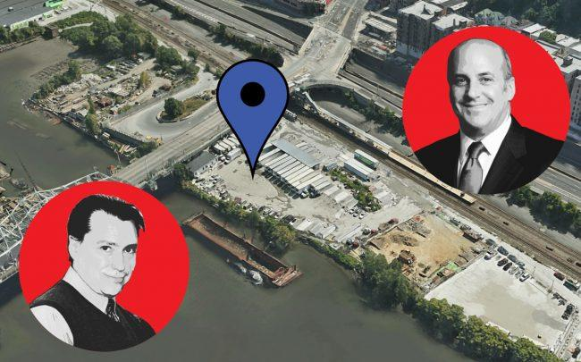 From left: Dynamic Star Director of Development Brad Zackson, the site at 320 West Fordham Road in the Bronx, and Dynamic Star CEO Gary Segal (Credit: Google Maps and Dynamic Star)