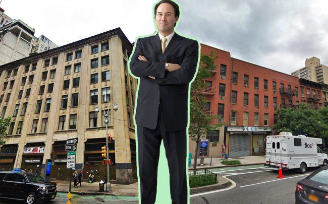 From left: 1710 Broadway, Extell Development CEO Gary Barnett, and 1643 First Avenue (Credit: Google Maps, Extell)