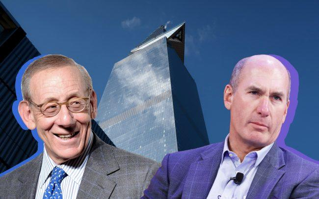 From left: Related Companies chairman Stephen Ross, 30 Hudson Yards, and WarnerMedia CEO John Stankey (Credit: Getty Images)