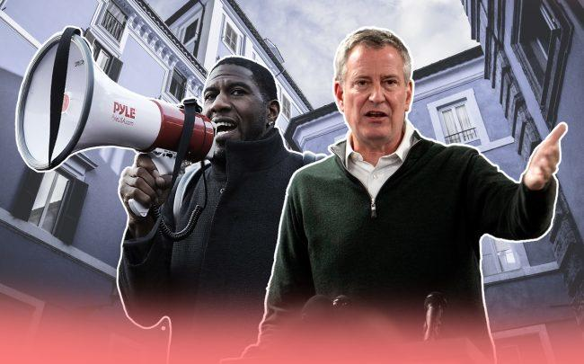 New York City Public Advocate Jumaane Williams and Mayor Bill de Blasio (Credit: Getty Images)