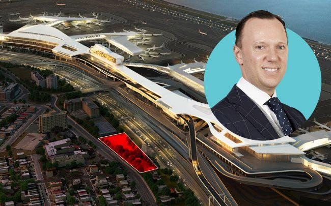 Cushman & Wakefield's Stephen Preuss and the site at 102-05 Ditmars Boulevard in Queens