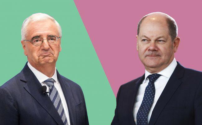 Deutsche Bank Chairman Paul Achleitner and German Finance Minister Olaf Scholz (Credit: Getty Images)