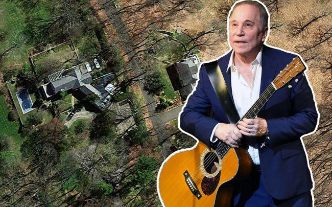 Paul Simon and his New Canaan estate in Connecticut (Credit: Getty Images and Google Maps)