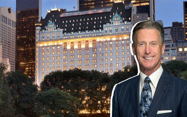 The Plaza Hotel at 768 Fifth Avenue and New York Hotel and Motel Trades Council president Peter Ward (Credit: Wikipedia and the Hotel Association of New York City)