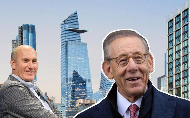 From left: WarnerMedia CEO John Stankey, 30 Hudson Yards, and Related CEO Steve Ross (Credit Getty Images and KPF)