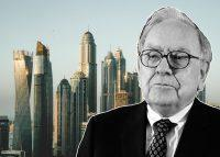 Berkshire Hathaway CEO Warren Buffett and Dubai (Credit: Wikipedia and Unsplash)