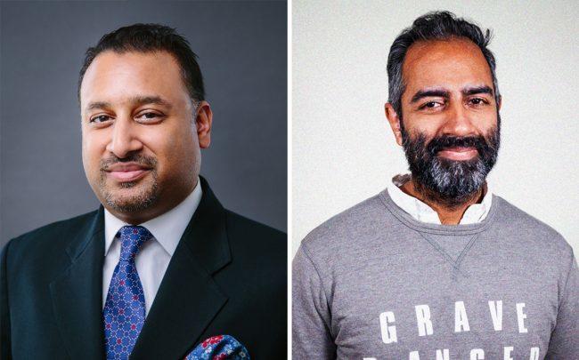 Vik Aggarwal and Knotel CEO Amol Sarva