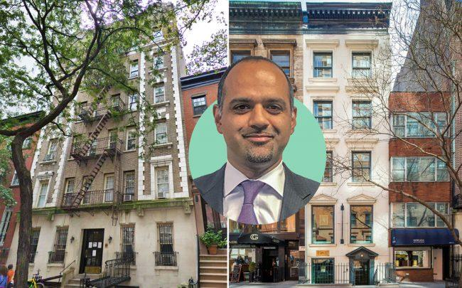 From left: 106 West 13th Street, Genghis Hadi of Nahla Capital, and 24 East 84th Street