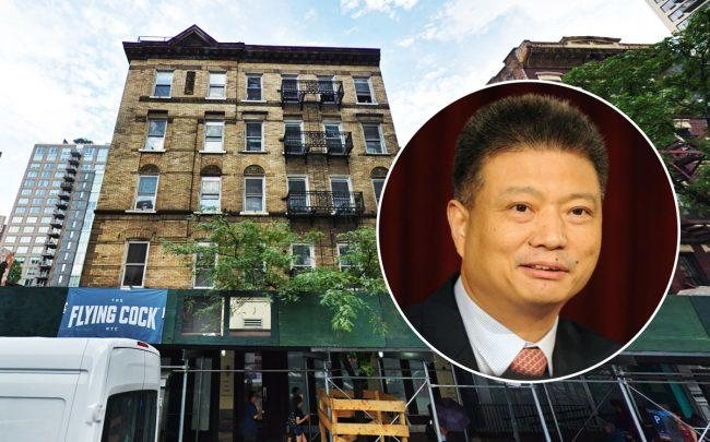 501 Third Avenue and China Overseas Land & Investment CEO Yan Jianguo (Credit: Google Maps and Getty Images)