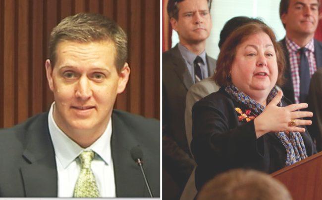 Assemblymember Andrew Hevesi and State Senator Liz Krueger
