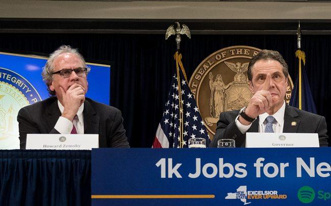 Former New York Economic Czar Howard Zemsky and Governor Andrew Cuomo (Credit: Getty Images)