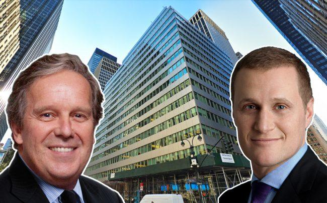 From left: Colgate-Palmolive CEO Ian M. Cook, 300 Park Avenue, and Tishman Speyer CEO Rob Speyer (Credit: NYU, Google Maps, and Tishman Speyer)