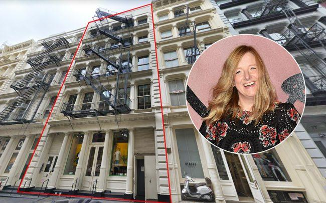 71 Greene Street with Alexander McQueen's Sarah Burton (Credit: Google Maps and Getty Images)
