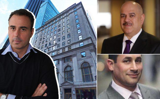 Clockwise from left: Ben Ashkenazy, 711 5th Avenue, Wafra CEO Fawaz Al-Mubaraki, and Nightingale Properties' Elie Schwartz (Credit: Google Maps; Wafra)