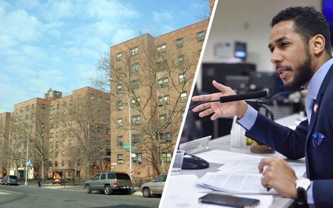 Cooper Park Houses in East Williamsburg and Council Member Antonio Reynoso