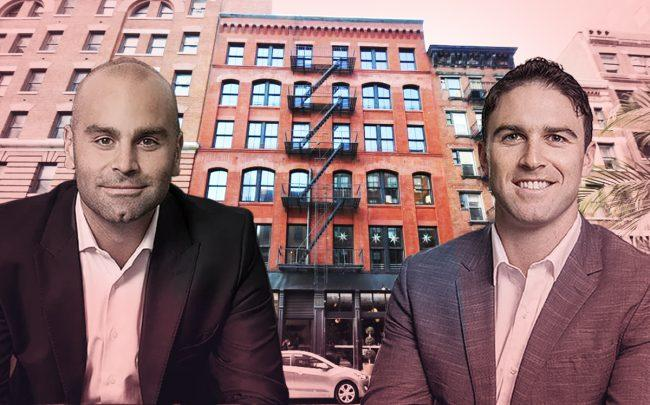 DAX Real Estate managing partners Daniel Hedaya and Maxwell Seibald with 186 Franklin Street