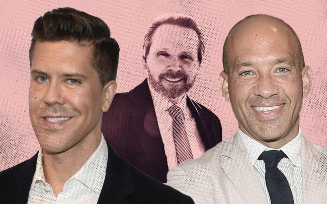 From left: Fredrik Eklund, Bob Knakal, and John Gomes (Credit: Getty Images)