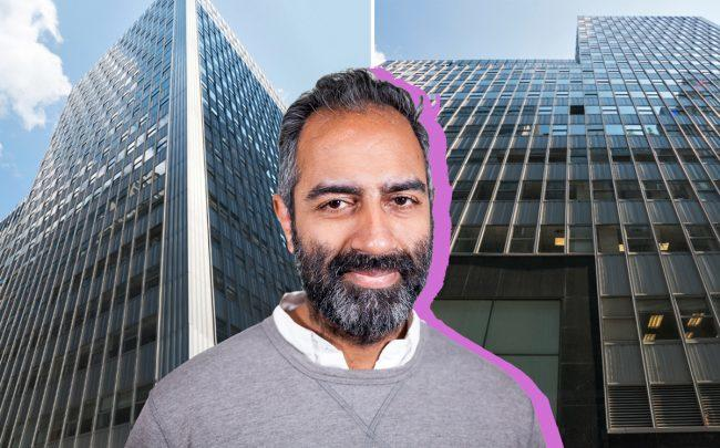 Knotel CEO Amol Sarva and 110 William Street (Credit: KBS)