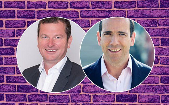 Michael Bruce and Vic Darvey (Credit: iStock, Purplebricks, and LinkedIn)