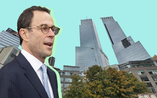 Related CEO Jeff Blau and 10 Columbus Circle (Credit: Google Maps)