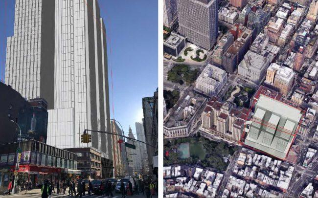 Illustrative renderings of the proposed development at 124-125 White Street (Credit: City of New York Department of Corrections)