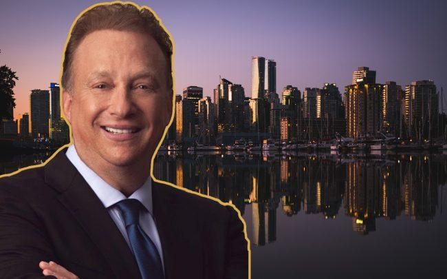Peerage's Miles Nadal and the Vancouver Skyline