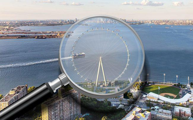 A rendering of the New York Wheel (Credit: S9 Architecture | Perkins Eastman)