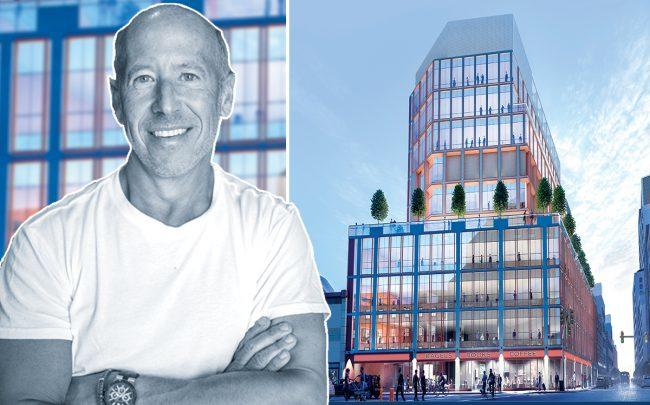 Starwood Capital Group CEO Barry Sternlicht and a rendering of 425 Westchester Avenue (Credit: Wikipedia)