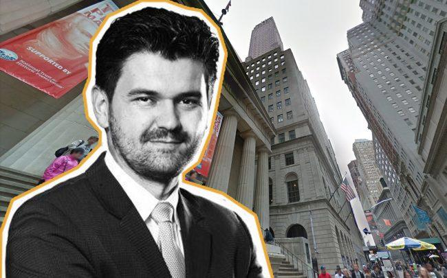 WeWork's Chief Real Estate Development Officer Granit Gjonbalaj and 30 Wall Street (Credit: Google Maps)