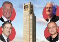 Clockwise from top left: Frank Fertitta, 520 Park Avenue, James Dyson, Ronn Torossian, and Ken Moelis