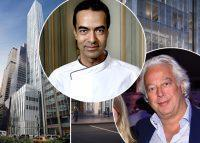 From left: 100 East 53rd Street, Alain Verzeroli, and Aby Rosen (Credit: Michelin Guide and Getty Images)
