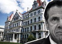 New York State Capitol in Albany and Governor Andrew Cuomo (Credit: Getty Images)